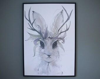Wild Rabbit Print - A2