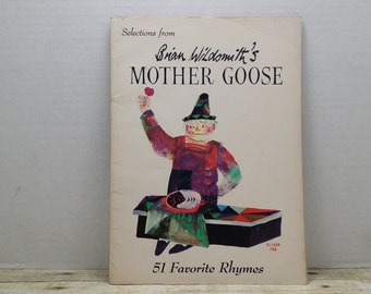 Selections from Bill Wildsmith's Mother Goose, 1972, vintage kids book