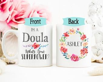 Doula Mug, Midwife Mug, Gift for Doula, Personalized Delivery Labor Gift, Labor Delivery Gift, Delivery Nurse Mug, AAA_001d