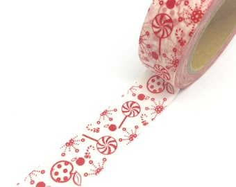 Red Apples and Lolly Washi Tape 15mm x 10m