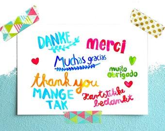 Postcard *thank you*