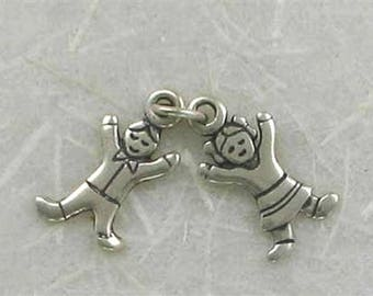 Sterling Silver Movable Boy & Girl Charm