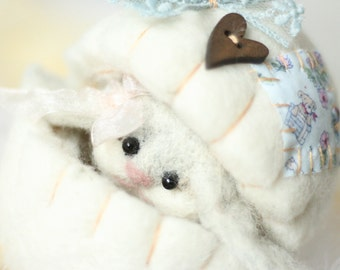 Easter Bunny - Easter Decorations - Easter Egg - Easter Decor - Bunny Rabbit - Easter Gift - Easter - Needle Felted - Bunny