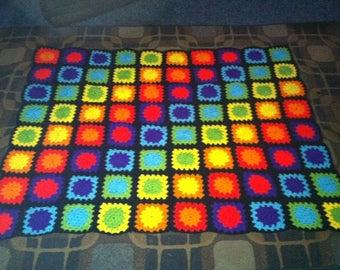 Neon Crochet Blanket