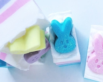 Easter peeps soap bar, Easter gift, Easter soap, peeps soap, peeps gift, kids soap, kids gift, teachers gift, Easter basket gift, teen gift