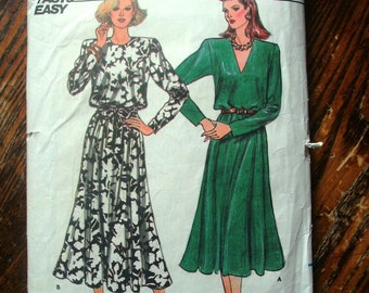 Butterick Printed Pattern ~ Butterick 4353 ~ Size 14 Bust 36 ~ 1986 Misses' Dress
