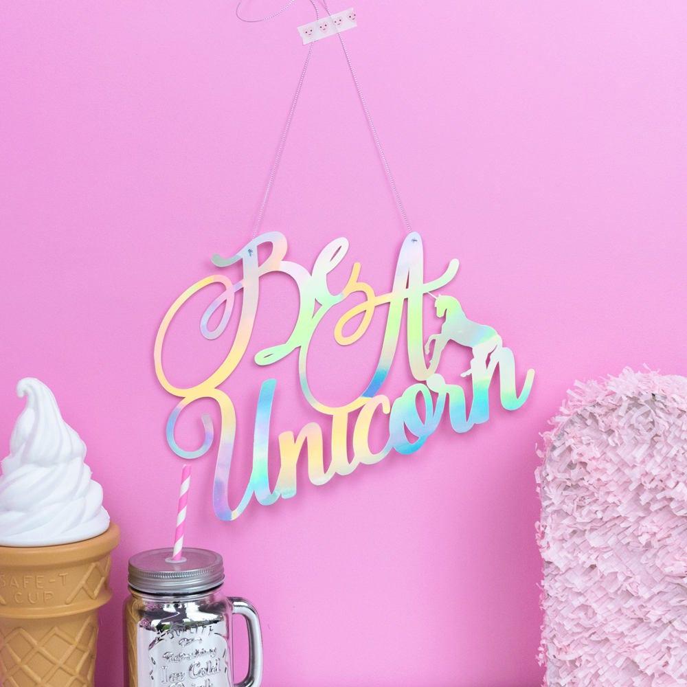 Unicorn wall decoration unicorn party unicorn bedroom for Unicorn bedroom decor