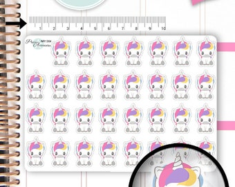 Kawaii Unicorn Stickers Unicorn Planner Stickers Planner Stickers Kawaii Stickers Erin Condren Decorative Stickers Live Planner NR1384