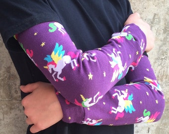 Winged Unicorn Leg and Arm Warmers for Boys and Girls - Leggings for Infant, Baby, Toddler, Kid, Tween - Fun Birthday or Shower Gift