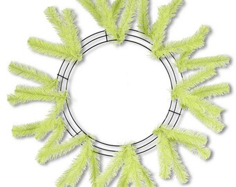 15 inch lime green OAD wreath work form, wreath work form, deco mesh supplies, work frame, lime green wreath frame, work wreath
