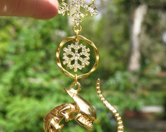 ALIEN SPACE BABY Tree Jewelry Christmas Ornament Sci Fi Golden