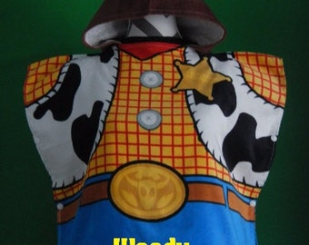 Sheriff WOODY Boy's Hooded Beach Towel Poncho Toy Story Towel– Personalized