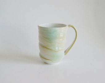 Pottery Mug Porcelain Ceramic Coffee Cup Handmade Mug Handmade Cup