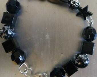 Lovely black beaded bracelet.