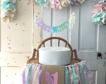 Dream Big Cake Topper.  Baby Shower or Birthday Cake Topper.  YOUR choice of Colors.  Custom Words Available