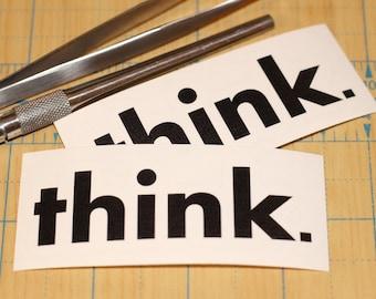 think sticker  | think decal