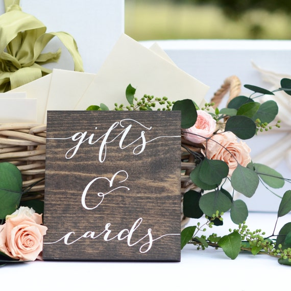 Wedding Card Table Ideas: Gifts And Cards Sign Wedding Gift Table Sign Gifts Sign