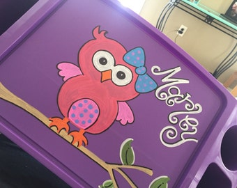 Personalized Owl Lap Tray