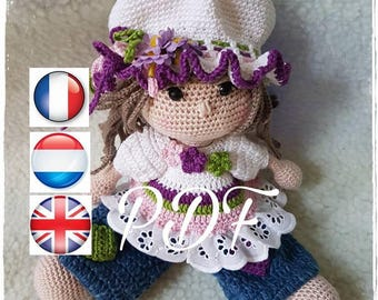 PDF pattern CROCHET Sarah, available in French, English and Dutch