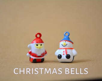 cat bells for cat collars - Snowman bell - Father  - Santa Claus - add on bells for Crafts4Cats  collars