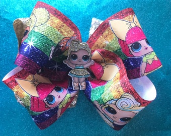 Jumbo Lol Surprise inspired Luxe doll Bow