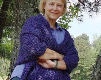 Purple Shawl, Crochet Shawl, Shawl Crochet, Violet Shawl, Crocheted Shawls, Mardi Gras, Mom Gift, Shawls Wraps, Gift for Her, Grandma Gift