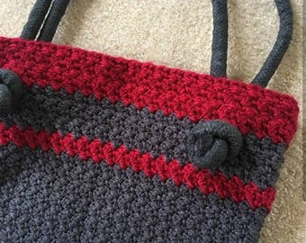 Knotted Rope Bag. Handmade crochet bag/purse/tote/ crochet tote