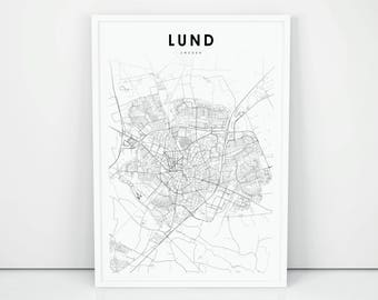 Map of lund Etsy
