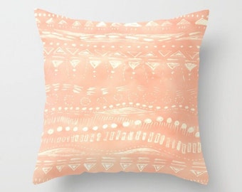 Pink Outdoor Throw Pillow, geometric pillow, pink throw pillow, light pink pillow, pink outdoor pillow, pink outdoor throw