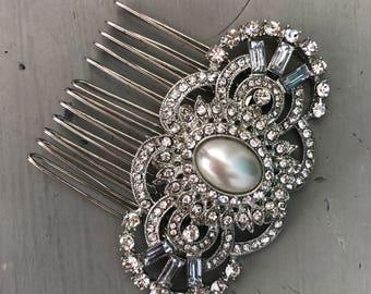 Art deco peine del pelo, peine del pelo de novia, pelo accesorios, accesorios de Dama de honor de la boda