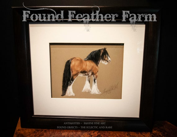 """Reserved for Suzette ~ Original Pastel Painting of the Gypsy Horse Stallion """"The Sundance Kid"""""""