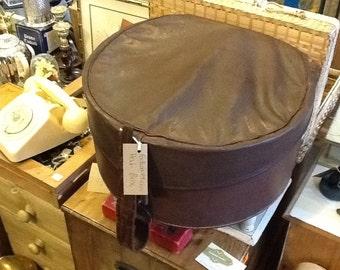 Edwardian round hat box