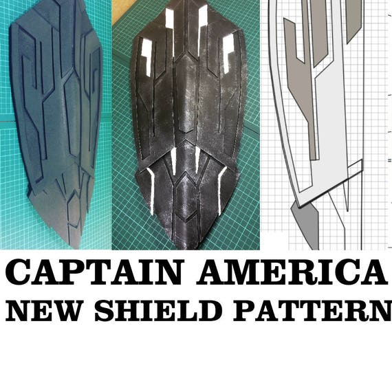 New Captain America Shield Cosplay Pattern Printable Template