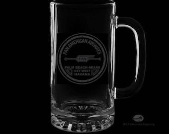16 Ounce Pan American Airways Personalized Beer Mug