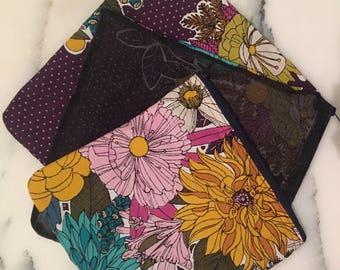 Purple floral produce bags