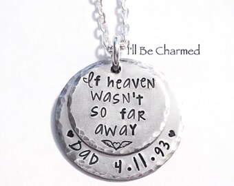 Keepsake Necklace - Hand Stamped -  Remembrance Jewelry - Memorial Necklace - Sympathy Gift - Personalized Jewelry - Remembrance Necklace