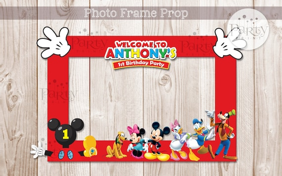 print it yourself digital copy mickey mouse clubhouse inspired diy photo frame propno physical item will be shipped - Mickey Mouse Photo Frames