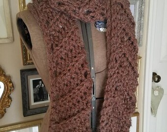Alpaca, chevron scarf