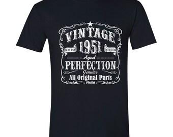 66th Birthday, 1951 Birthday, 66th Birthday Gift, 66th Birthday Present. 66th Birthday Idea for 1951 Birthday, 66th, 66 BLACK 1951