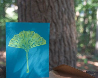 Ginkgo Blank Cards, Muted Colors