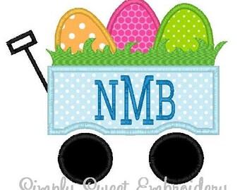 Easter Egg Wagon Applique Design