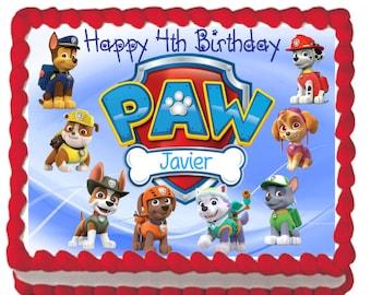 PAW Patrol Pups Blue Edible Cake Topper