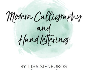 Modern Calligraphy and Hand Lettering Digital Workbook