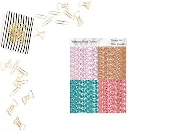 Planner Girl Glitter Headers, planner stickers