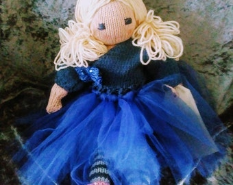 Josephine heirloom hand knitted  crafted rag doll