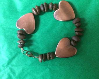 Coffee Bean Heart Bracelet