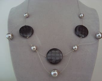 Original necklace in shades of grey