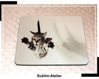 Mousepad attention coming, carpet cat, desk accessory, mousepad, computer