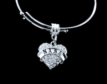 Nana Bracelet Nana Charm Bracelet Nana Jewelry I love Nana