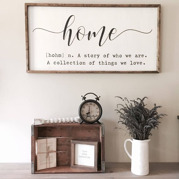 Large Wooden Signs Home Decor: Home Definition Sign Home Quote Sign Home Sign A Story Of